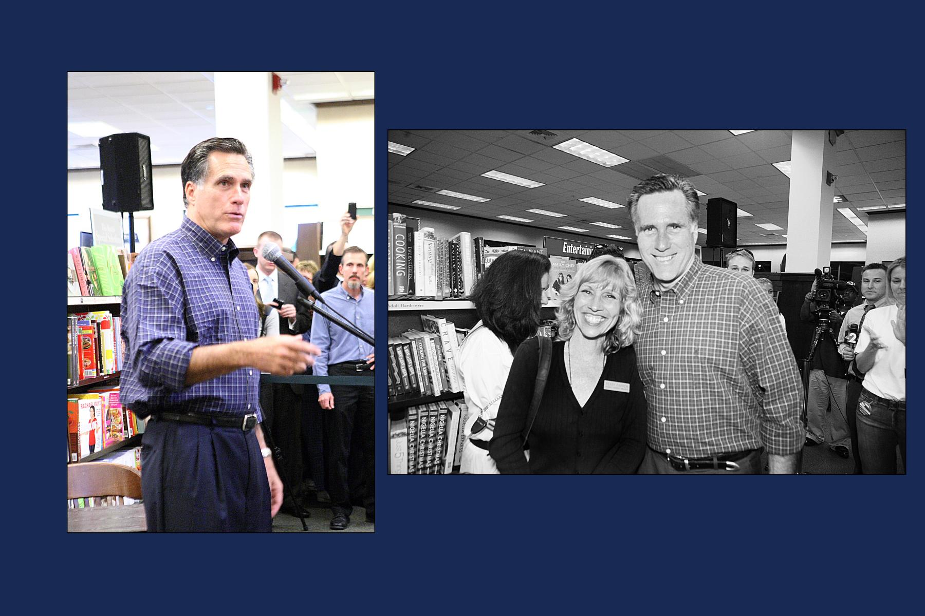 Peggy with Mitt Romney