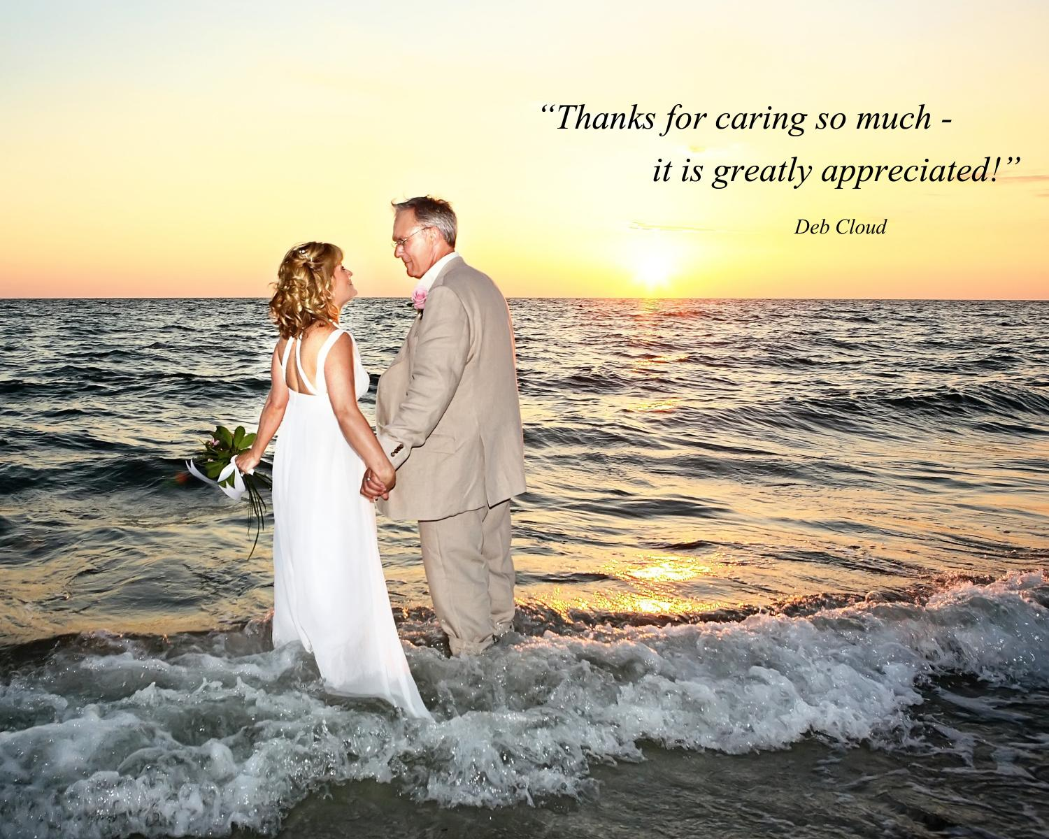 Testimonial Ritz-Carlton beach wedding