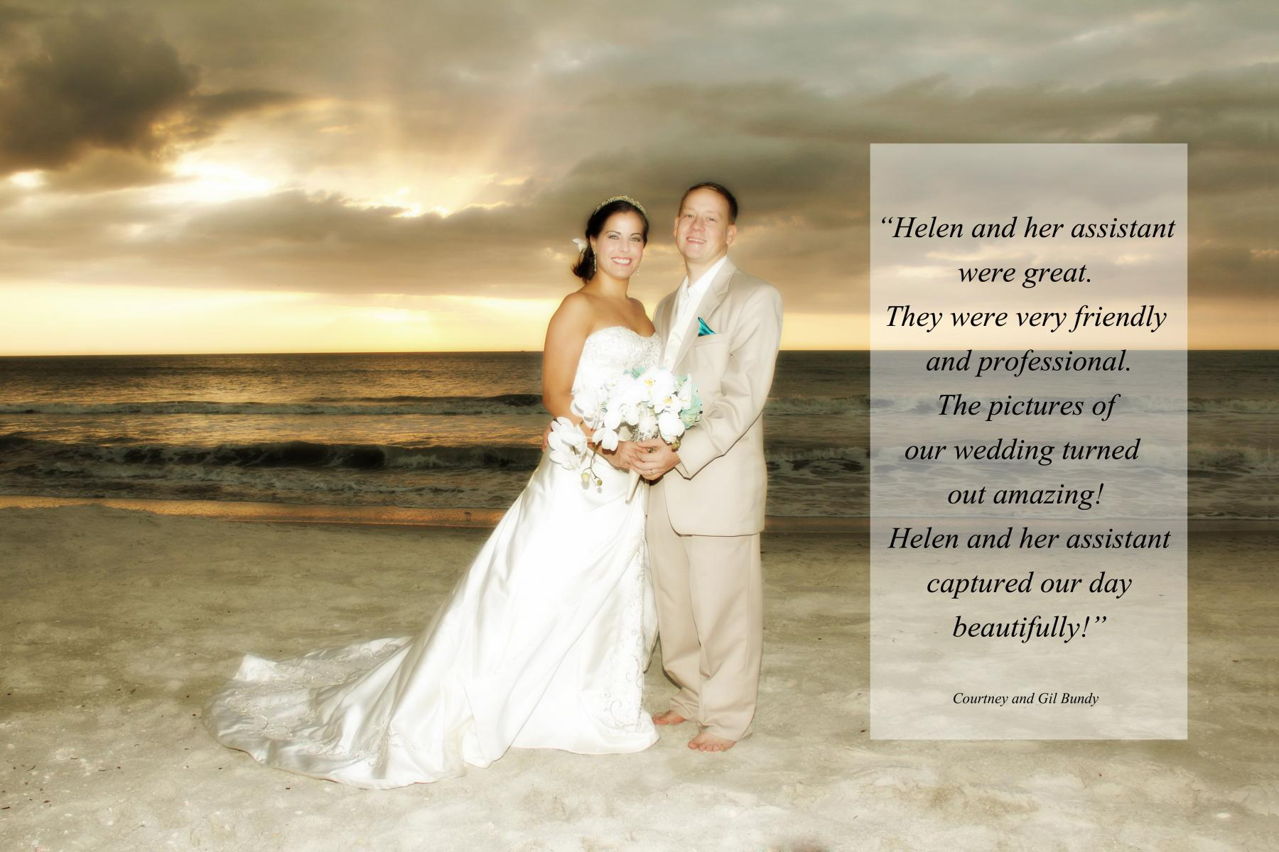 Testimonial small beach wedding